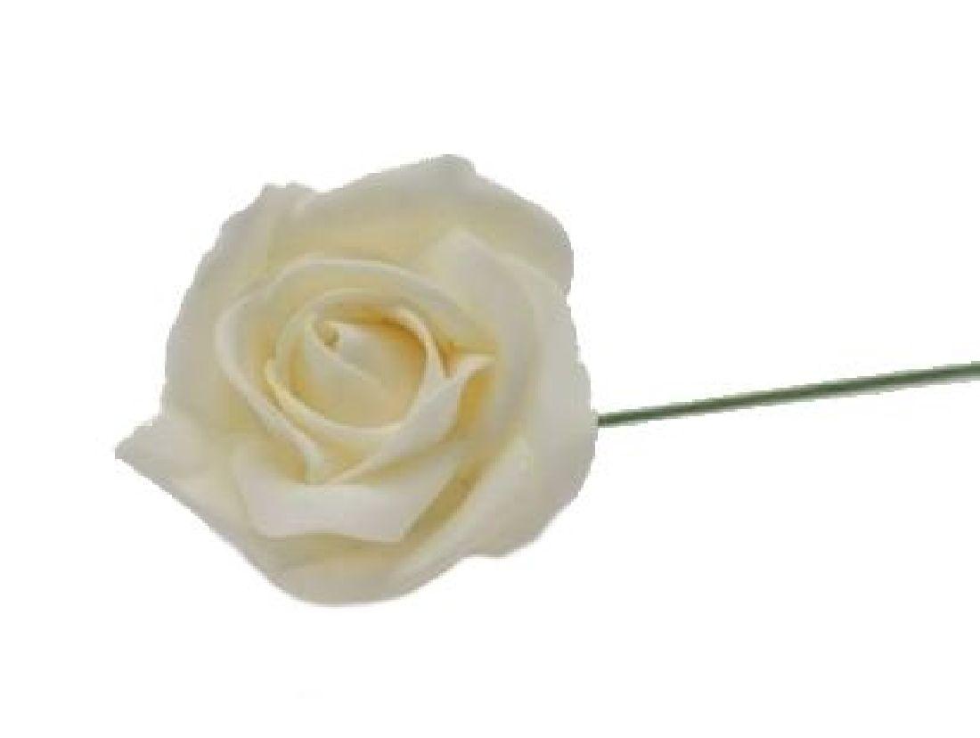 Rose Foam CREME Schaumrosen 7cm 15642 Foamrosen