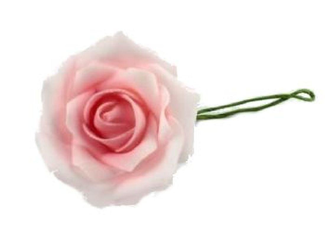 Rose Foam ROSA 40 Schaumrosen 7cm 15642  Foamrosen
