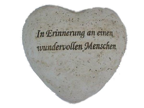 Spruchherz stein-weiss 13726 21x20x6cm