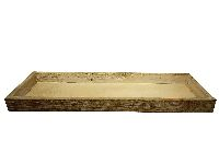 Dekotablett / Holztablett NATUR-WASHED 95333 42x14x3cm