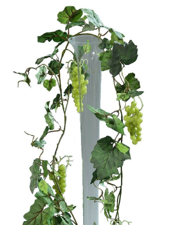 Weinlaubgirlande / Weinranke GRÜN 58026 mit Trauben 180cm