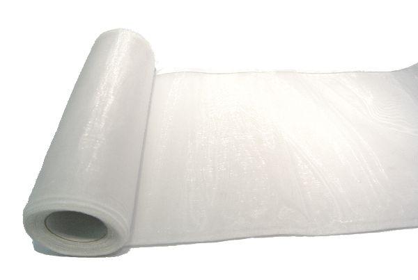 Organza Tischband mit Webkante WEISS Breite:24cm Länge:10Meter