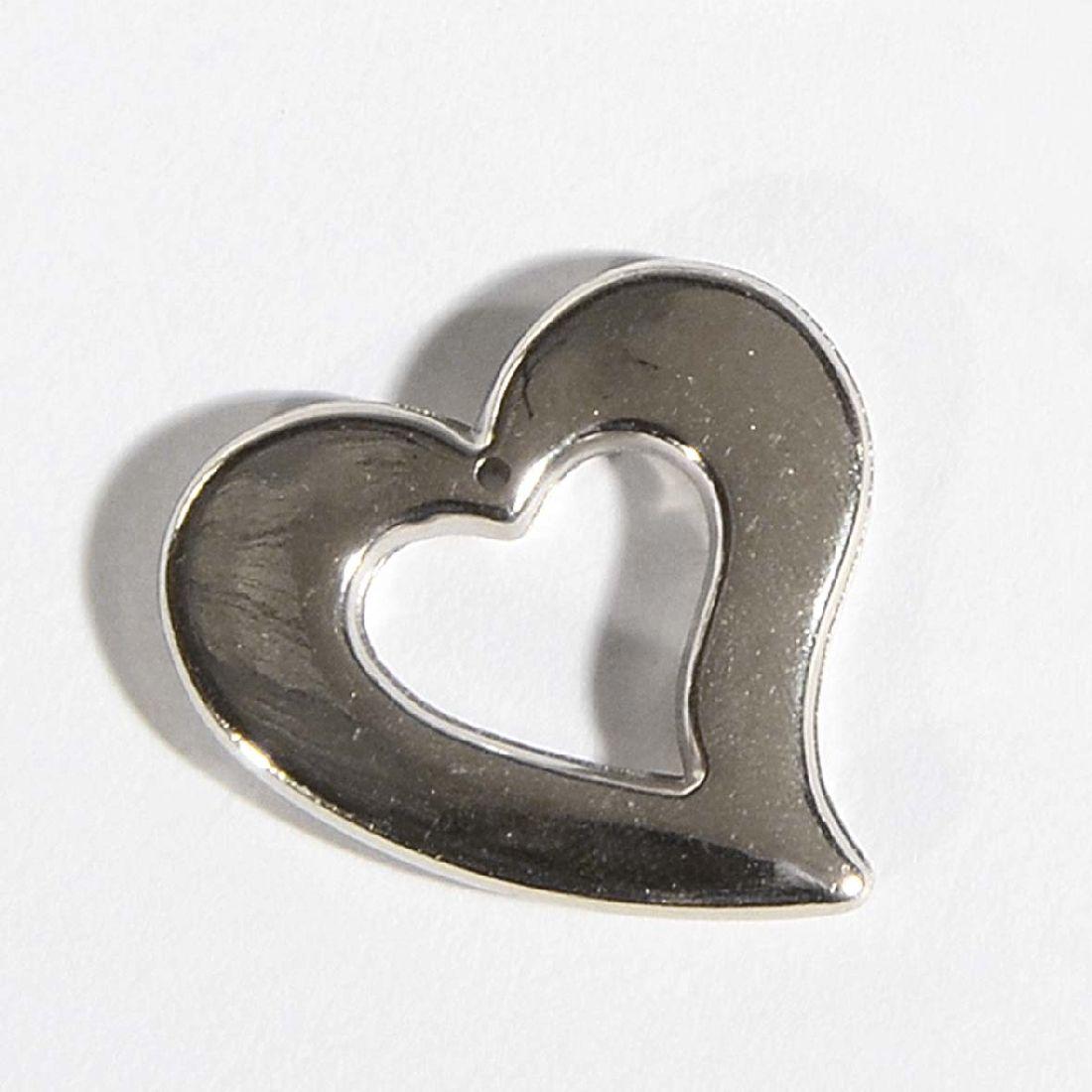 Herz Quenta mit Aufhängöse SILBER-GLANZ 15846 60 Stück offen 3x3,5x0,3cm PVC
