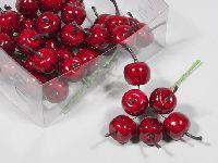 Apfel am Draht ROT 200252 2,5 cm   36 Stück