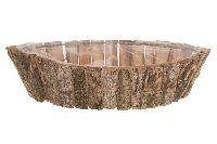 Birkentopf 22716 NATUR oval 42x18x10cm mit Folie