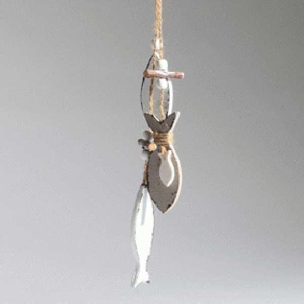Fisch Sealine TAUPE-WEISS 34991 Hänger Länge=37cm