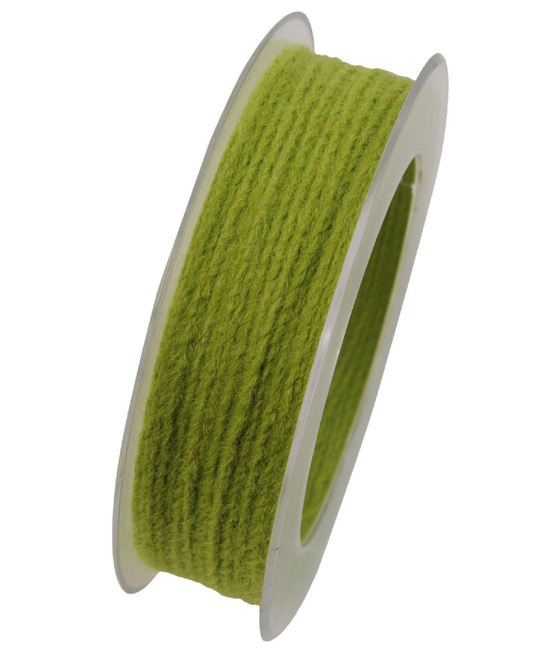 Wollkordel Twist mit Draht SCHILFGRÜN 542 2mm  50 Meter  Wollschnur