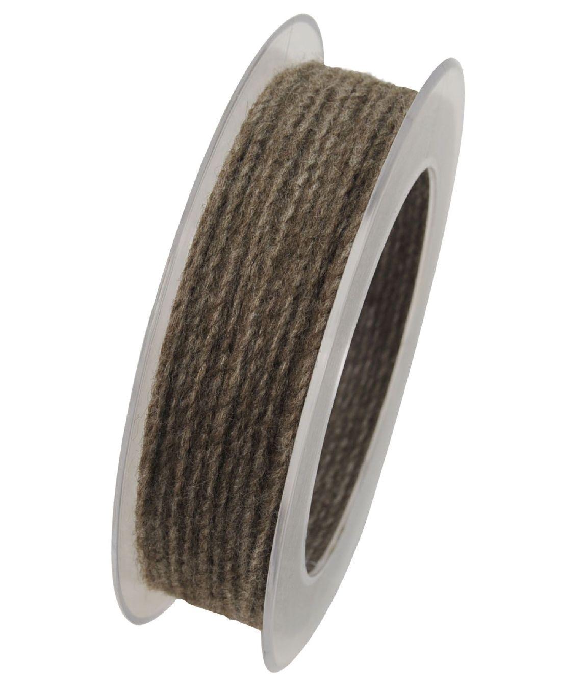 Wollkordel Twist mit Draht GRAUBRAUN 5109 2mm  50 Meter  Wollschnur