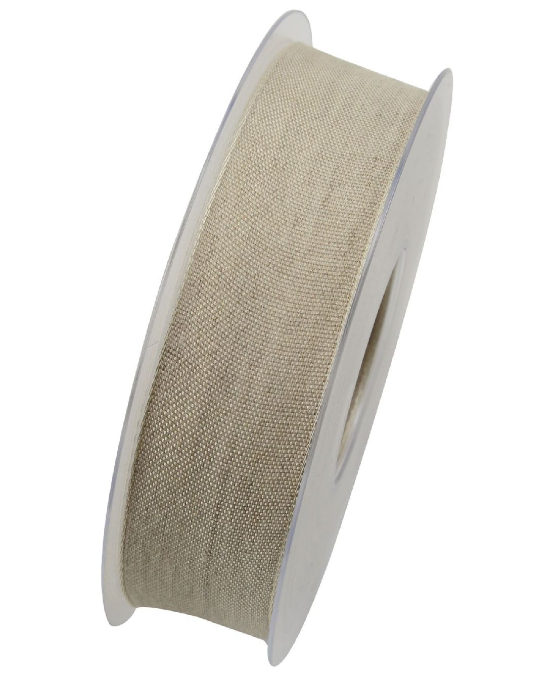 Band Botswana Leinenband NATUR X092 02 25mm  20Meter Drahtkante