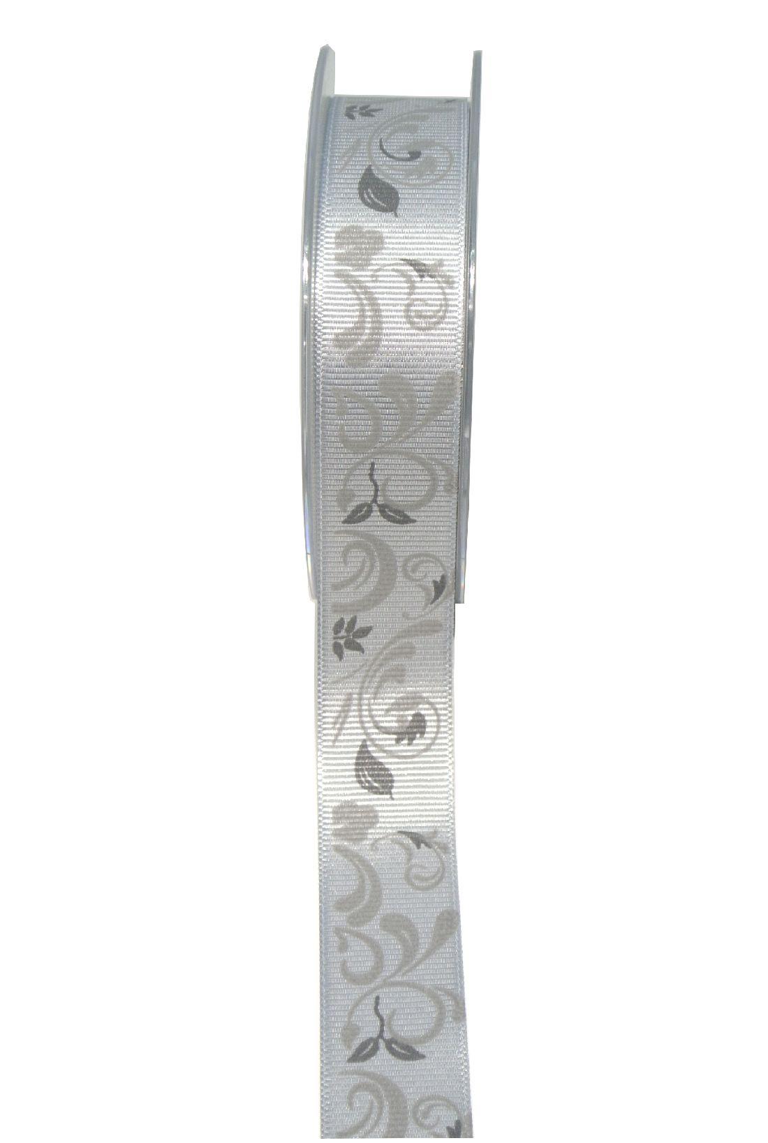 Trauerranke-Rips SCHWARZ 100325 25mm 20m