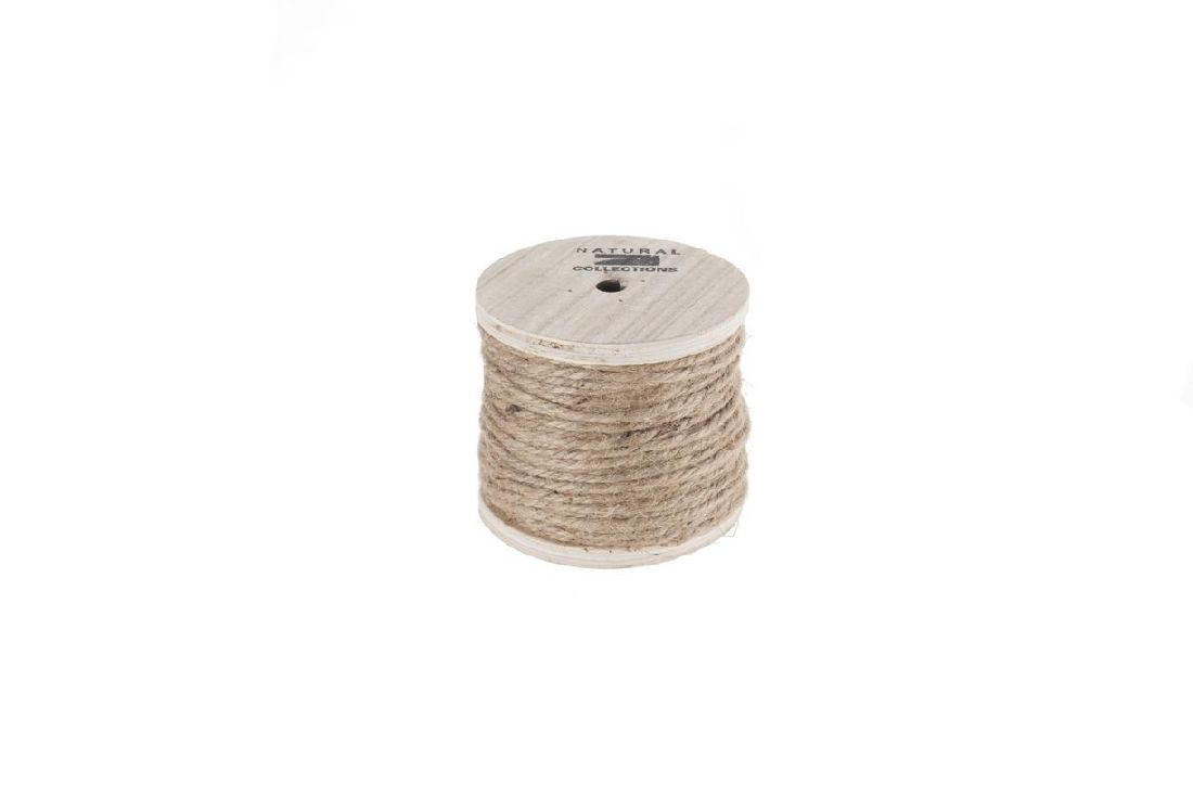 Kordel auf Holzspule NATUR 12570 130 Gramm