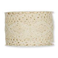 Häkelspitze CREME 70 aus Baumwolle Breite: 60 mm 2196