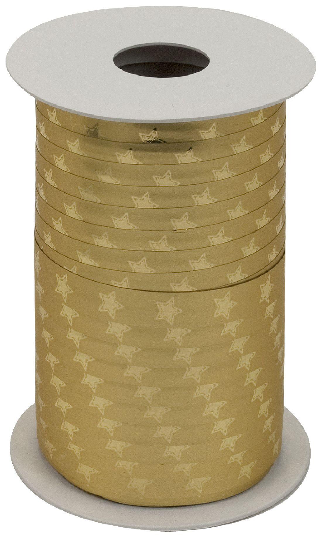 Polyband X-MAS Edition GOLD METALLIC Ringelband 10mm 150Meter Ziehband