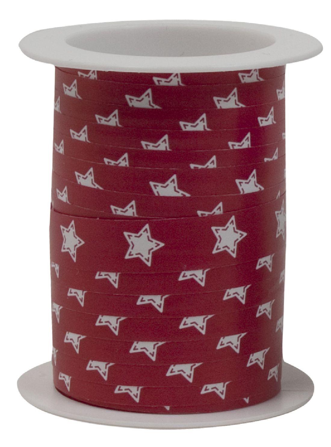 Polyband X-MAS Edition ROT-MATT Ringelband Weihnacht 10mm  150Meter Ziehband