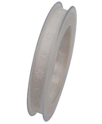 Band Cape Coral Organzaband CREME X778 021 B:15mm L:20Meter Blümchendruck