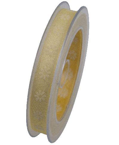 Band Cape Coral Organzaband GELB X778 10 B:15mm L:20Meter Blümchendruck