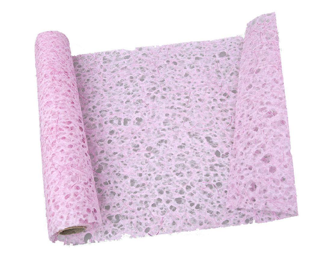 Papiervlies - Tischläufer HELLROSA 10249 28 Breite:35cm Länge:450cm