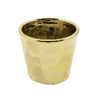 Keramik Topf Glamour GOLD-GLASIERT 10x9cm 59211