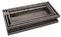 Holzbox mit Drahtgitter GRAU 80584 S/3  37/41/45cm