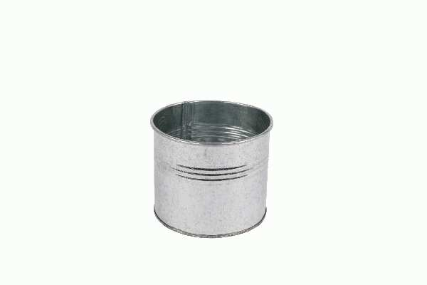 Metalltopf / Metalldose ZINK 02ZIS04 Ø7,5x7,5cm