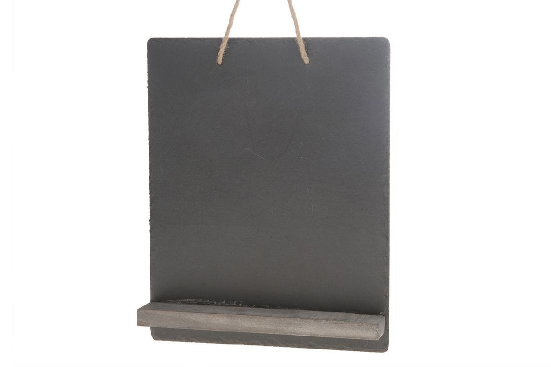 Schiefertafel Hänger mit Board SCHWARZ 26988 28x35cm