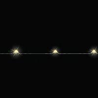 LED Lichterkette 372519  Drahtlichterkette 10 LED 100cm warmweiß inkl.Bat