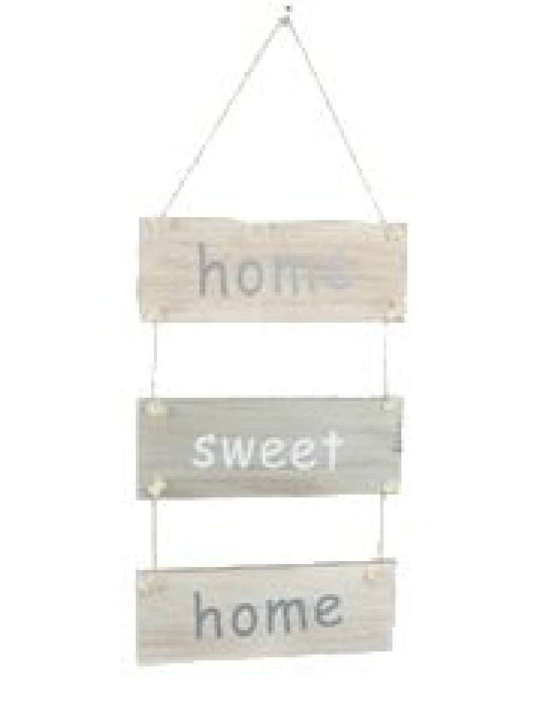 Dekohänger Home Sweet Home washed Optik 22-8104 B24xH49cm Holz