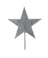 Metallstern mit Schraubgewinde GRAU 490062 Ø19cm