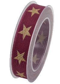 Band Sternenpracht BEERE 253 X830 Sternenband 25mm 20Meter formstabile Kante