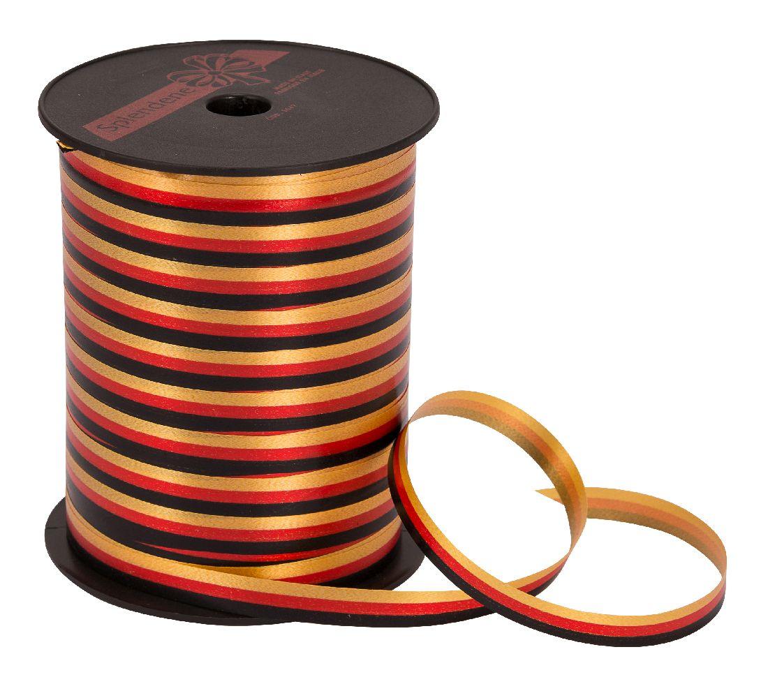 Polyband / Geschenkband Nationalband schwarz-rot-gold 10mm 200Meter Ziehband