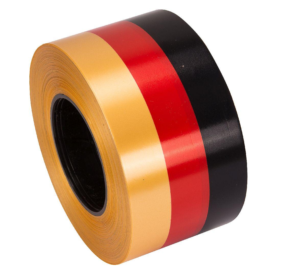 Polyband / Geschenkband Nationalband schwarz-rot-gold 80mm 100Meter Ziehband