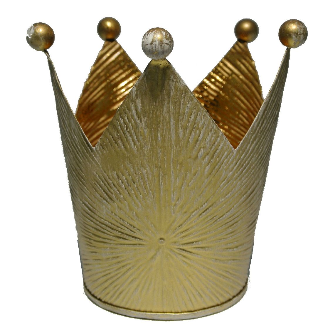 Krone gold Metall stabile Qualität Øoben 10cm H11,5cm Øunten7cm