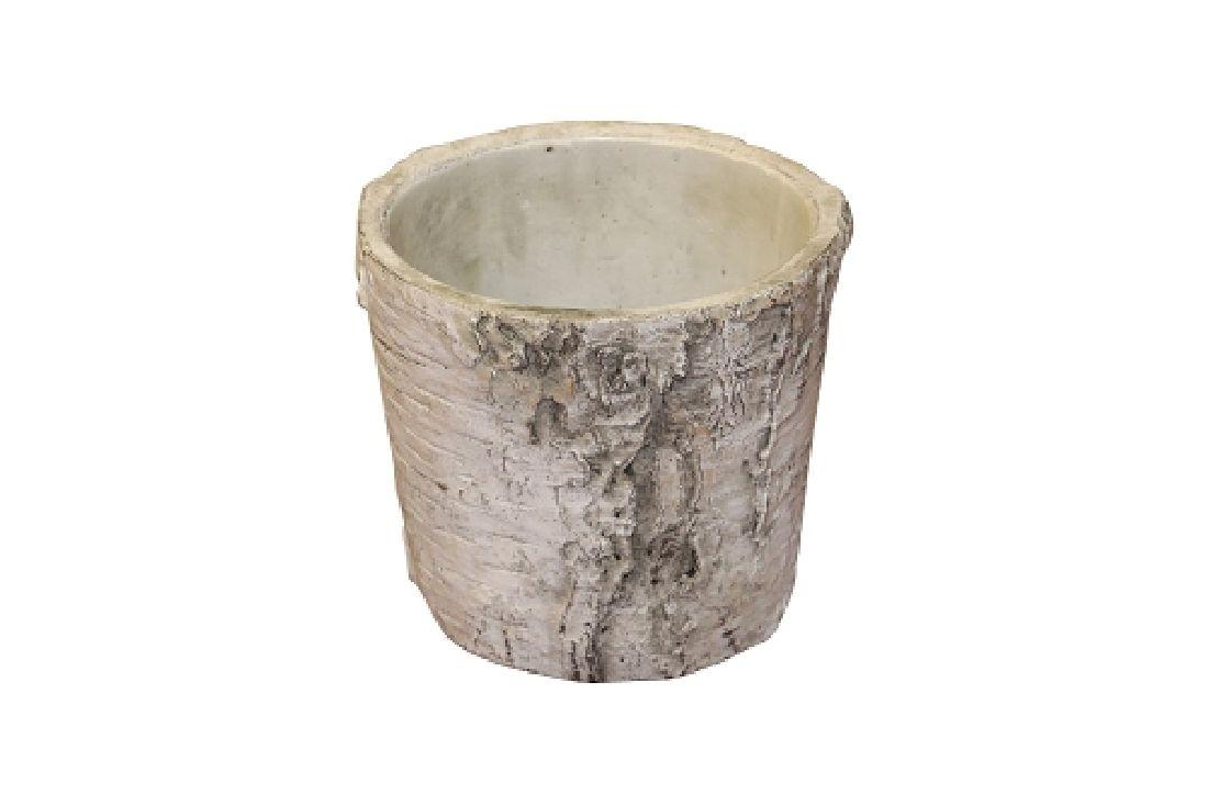 Topf Birke Baumstamm Birke 67529009 konisch 9x8cm Zement