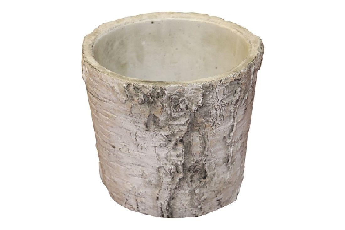 Topf Birke Baumstamm Birke 67529013 konisch 13x11cm Zement