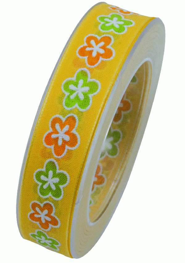 Band Pretty Summer GELB X910 10 B:25mm L:20m formstabile Kante