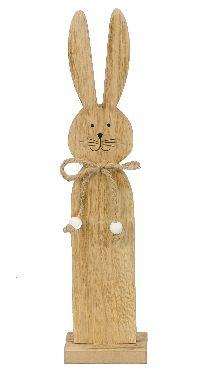Hase Dekofigur NATUR 463303 7,5x5xH32,5cm  Holz