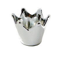 Krone Keramik SILBER GLANZ Ø8xH6,5cm  58832