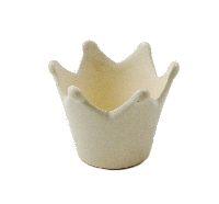 Krone Keramik WEISS-GLANZ glasiert Ø8xH6,5cm  58824
