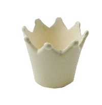 Krone Keramik WEISS-GLANZ glasiert Ø10xH8,5cm 58825