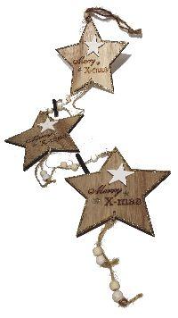 Sternengirlande NATUR 861803194 L=61cm Stern=15x0,5cm