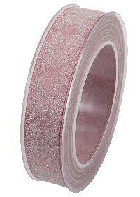 Sternenband Santa Isabel ROSA formstabile Kante B:25mm L:15Meter X983 22
