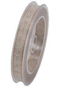 Sternenband Glimmerstern CREME formstabile Kante B:15mm L:20Meter X984 21