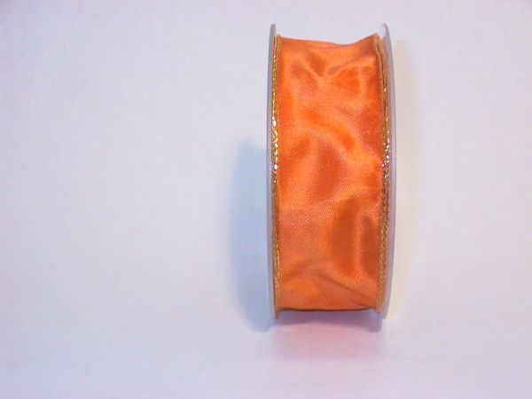 Drahtband mit Goldkante ORANGE 236 40mmx25m