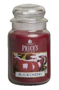 Duftkerze Price´s Candles BLACK CHERRY im Glas Brenndauer: 110-150 h